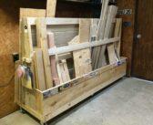 DIY Rolling Lumber Rack
