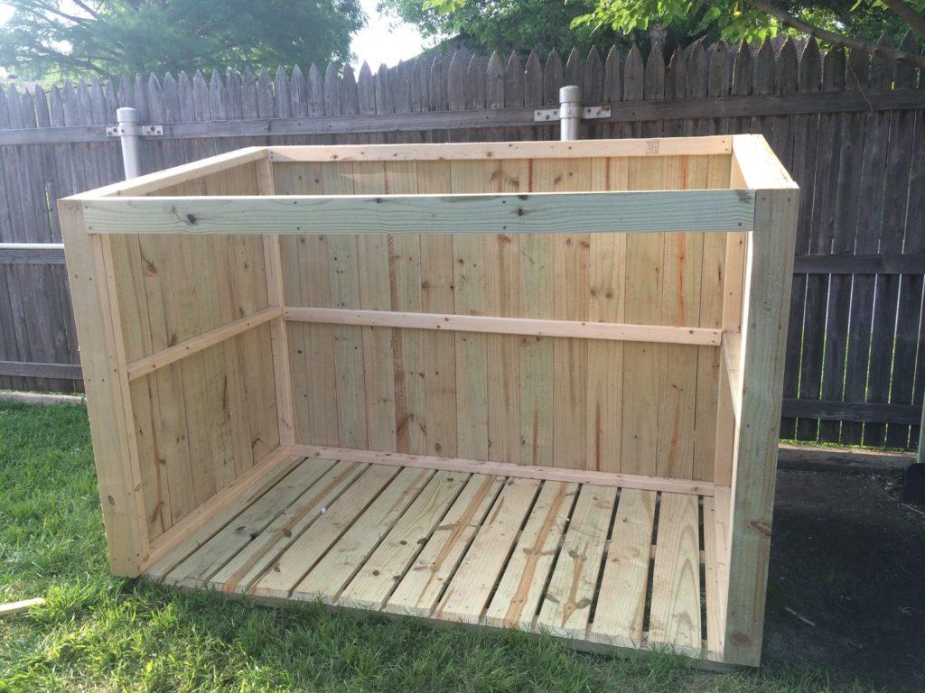 & Outdoor Garbage Storage Shed Plans | DIY Woodworking