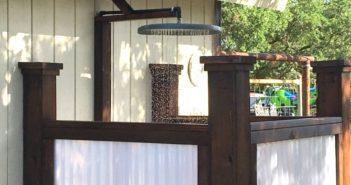 Building an Outdoor Shower